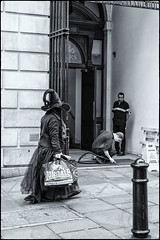 Cleaning. Near Diagon Alley, London. (Andrea Bosio Photographer) Tags: strega london bw blackandwhite bianconero bn andreabosio henrypotter witch