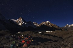 Masherbrum K1 - 7,821 m (Daniyal Naeem (Xpitude)) Tags: goroii concordia masherbrum k1 skardu karakarom k2trek k2basecamp queen mountaineering trekking pakistan ghuncha climbing nightphotography campsite daniyal daniyalnaeem xpitude altitude northpakistan