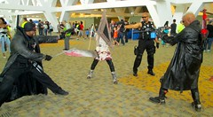Blade versus Pyramid Head (MorpheusBlade) Tags: 2016baltimorecomiccon cosplay costume comicon blade daywalker vampirehunter