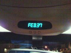 Car Calendar Glitch (scottywz) Tags: car date february bug glitch iphone hyundai santafe year2003