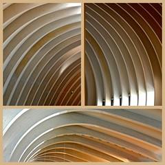 France 2016 - Bordeaux (philippebeenne) Tags: france bordeaux citduvin courbes architecture triptyque collage mosaque beige aquitaine