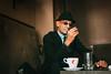 Bosnian man in a bar in Visegrad (Giacomo Vesprini) Tags: portrait man balcans