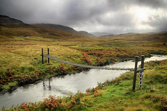 Bridge to the bothy (OutdoorMonkey) Tags: strathshinary river bridge footbridge wild wilderness remote strathanbothy bothy cottage house countryside outside outdoor hike hiking walk walking route path moor moorland scotland sutherland