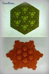 Tessellations by Robin Scholz and Ralf Konrad (Thomas Krapf Origami) Tags: origami tessellations paper paperfoldig robin scholz ralf konrad triphilia starpuff papier papierfalten mosaik