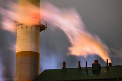 Smokestacks (gabe.mirasol) Tags: nikon d600 135mm vivitar manual night nighttime long exposure industrial