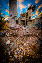 Dan (yeahwotever) Tags: apocalypse graffiti abandoned bunker concrete disused early lime mess oregon silo states structure sunrise tag tower usa