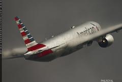 American Fluff (zoomerphil) Tags: boeing 777 triple london heathrow jet plane jetplane airplane aeroplane fly flight holiday trip vacation climb vapour mist thrust
