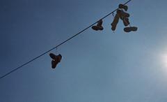 (Mistoska) Tags: shoes sign ljubljana slovenie sky hiddenshoes slovnie slovenja city streetphotography colors street analogphotography argentique analog