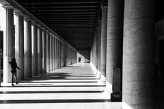 Stoa of Attalos (psambuy) Tags: ancientgreece athens architecture black white