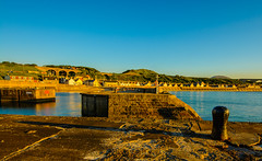 Cullen In A Very Golden Hour (williamrandle) Tags: northsea cullen moray banffshire northeastscotland scotland harbour goldenlight goldenhour village stone walls sea water reflections holidays 2016 spring shadows nikmon d7100 sigma816mmf4556dc outdoor landscape seascape viaduct arch houses
