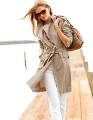 Windy Trench (betrenchcoated) Tags: trenchcoat trench raincoat regenmantel windy woman wind blowing flying beautifulgirl