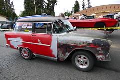56 Chev Shorty (bballchico) Tags: 1956 chevrolet shorty hotrod ratbastardscarshow carshow 50s stationwagon 206 washingtonstate