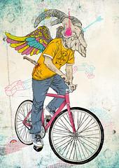 Baphomet's bike hipster (Tofu Verde) Tags: ilustrao illustration art arte desenho drawing baphomet bike demon demonio digitalart graphics poster cartaz hipster idiot digitaldrawing digitalartist print artwork graphic digitalpainting