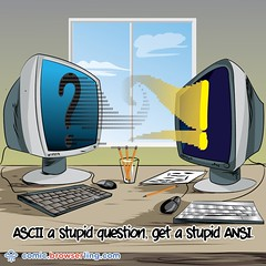 Question - Webcomic about web developers, programmers and browsers (browserling) Tags: cartoon comic webcomic joke browser browserling crossbrowsertesting webdeveloper webdesigner webprogrammer ascii ansi asciiart ansiart question answer stupid webdev developer designer programmer geek nerd internet web cartoons comics webcomics jokes browsers webdevelopers webdesigners webprogrammers webdevelopment developers development designers programmers geeks nerds internets webs webjoke internetjoke