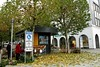 Neubrandenburg  City IMG_1659 (nb-hjwmpa) Tags: neubrandenburg turmstrasse pavillion boulevard mecklenburg kaufhof platanen herbstlaub