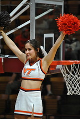 CHEERIN' FOR THE HOKIES (SneakinDeacon) Tags: acc vt vatech hokies cassellcoliseum cheerleaders bigsouth basketball panthers highpoint