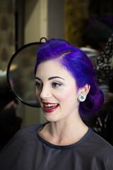 Angi I Salon Artifex #3 (Eera Photography) Tags: portrait photoshooting 50mm hairdressingsalon hairdressers hairstyle hairstylist 50s rockabilly rockabillystyle rockabella purplehair alternativestyle female feminine woman retro vintage