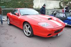 Ferrari 575 Maranello (Monde-Auto Passion Photos) Tags: auto automobile ferrari 575 maranello rouge coup france rally paris evenement sportive supercar