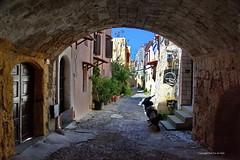Sreetview Rodos old town (DirkVandeVelde back) Tags: europa europ europe griekenland greece rodos rhodos oldtown street sony straat rue