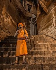 The sadhus of Benares (Varanasi, India 2015) (Alex Stoen) Tags: alexstoenphotography asia benares bhonsaleghat canoneos1dx ef2470mmf28liiusm geotagged india pocketwizard travel vacation varanasi ancientcity offcameraflash