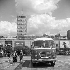 Warsaw, Poland. (wojszyca) Tags: yashica mat 124g tlr 6x6 120 mediumformat kodak trix 400 400tx gossen lunaprosbc epson 4990 bus warszawa warsaw towerblock socialist modernism