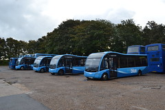 Blue Vectis 3815 HW62CNJ - 3803 HW62CGF - 3812 HW62CMK - 3809 HW62CJJ (Will Swain) Tags: carisbrooke 14th october 2016 beer buses walks weekend south southern island isle wight depot yard bus transport travel uk britain vehicle vehicles county country england english blue vectis 3815 hw62cnj 3803 hw62cgf 3812 hw62cmk 3809 hw62cjj