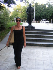 Nina - one day in Belgrade:) Beauty in Belgrade... (seanfderry-studenna) Tags: nina summer holiday vacationbelgrade beograd serbia srbija balkans europe european woman female girl lady girlfriend fiancee wife happy married public posed candid people person beuaty beautiful gorgeous stunning cute charming serb tan tanned face neck necklace pink lips brown eyes shoulders arms throat black clothes trousers straps top sandals feet outdoor outside sunglasses pose steps stairs brunette hair
