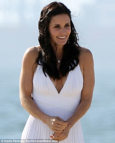 Courteney Cox doesn t remember much of  Friends