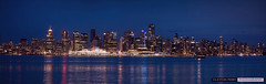 Vancouver Skyline Panorama (Clayton Perry Photoworks) Tags: panorama skyline night vancouver lights