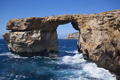 Azure Window (Explored) (Vale Boy) Tags: blue sea people window wet water rocks mediterranean azure malta maltese polarizer gozo dwejrabay explored valeboy cliverees