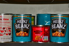 Bloody Mary Baked Beans!! (Jainbow) Tags: kitchen tin beans sauce mary vegetable can tesco vodka bloody cupboard heinz whitesnake beanz worcester baked larder meanz jainbow