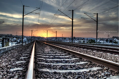 Last train lost... (Alex Matos) Tags: railroad sunset portugal hdr ermesinde prdesol caminhodeferro mygearandme mygearandmepremium