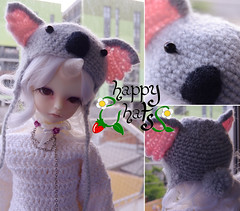 Msd Koala Happy Hat (Craia) Tags: hat happy doll handmade crochet hats koala kawaii bjd knitted soom msd shale ganchillo gorrito