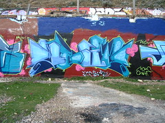 DEST (Brighton Rocks) Tags: graffiti brighton blackrock desta