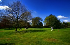 A Day in the Park (n.pantazis) Tags: park blue england white green london colors mom relax picnic play wideangle enjoy beckenham kelseypark pentaxk30