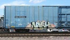 Vash (quiet-silence) Tags: railroad art cn train graffiti flat railcar boxcar graff sws freight vash canadiannational fr8 autoparts cna795028
