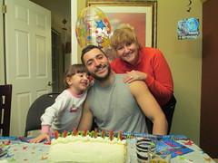 Celebrating Eric's 30th Birthday (supe2009) Tags: birthday family grandma ava cake fun eric son celebration granddaughter sue 30th february pavlova 2013