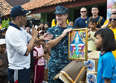 Rear Adm. Payne in Jakarta, Indonesia, for CARAT 2013. (Official U.S. Navy Imagery) Tags: heritage america indonesia liberty freedom commerce unitedstates military navy sailors fast worldwide jakarta tradition usnavy protect deployed flexible onwatch beready defendfreedom warfighters nmcs chinfo sealanes warfighting preservepeace deteraggression operateforward warfightingfirst navymediacontentservice