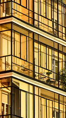 Sunbath (Nachett) Tags: madrid orange sun building sol glass gallery terrace edificio galeria sunbath cristal naranja bao terraza