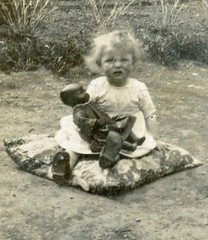 White child with a black doll (benicektoo) Tags: race children doll dolls child vintagephotographs vintagechildren foundphotographs