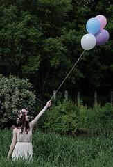 (littlehoneybee) Tags: flowers girl wisconsin balloons spring