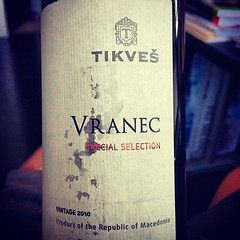 Macedonian Vranec wine! #delectable #wine (dalecruse) Tags: instagramapp square squareformat iphoneography uploaded:by=instagram foursquare:venue=4c89b804e51e6dcbbc0463de wine wines water food indoor foods dining finedining finefoods delicious indoors alcohol booze