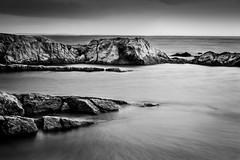 #1 (Roman Strai) Tags: longexposure travel sunset sea blackandwhite bw seascape water canon landscape rocks croatia magichour t3i 600d