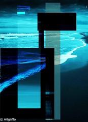 Blue waves. (Paul Griffiths Photos) Tags: art photography fine visualart