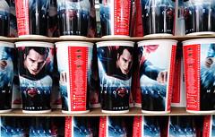พิมพ์แก้วน้ำพลาสติก | โรงหนัง SF ซุปเปอร์แมน | CMYK Screen Print | Drinking Cup | SF Cinema | Man of Steel