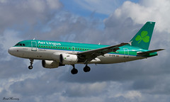 Aer Lingus A319-100 (birrlad) Tags: ireland dublin sunlight up airplane airport haze taxi aircraft aviation airplanes line landing heat approach takeoff runway airliner