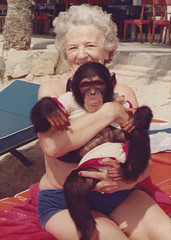 My mother's mother and ape (Niklas) Tags: summer spain grandmother humor ape adele