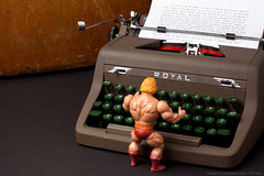 He-Man Works on His Autobiography (EnvisionDigital) Tags: typewriter june tn royal story 365 heman 52 eternia mastersoftheuniverse 2013 envisiondigital