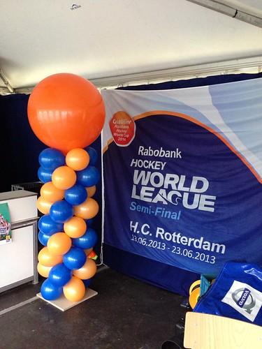 Ballonpilaar Breed Rond Hockey World League 2013 Rotterdam