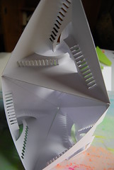 Stairs in a Triangle (Paperitis) Tags: geometric stairs paper 3d triangle origami stair cardboard kirigami carton escher papier papercutting paperitis